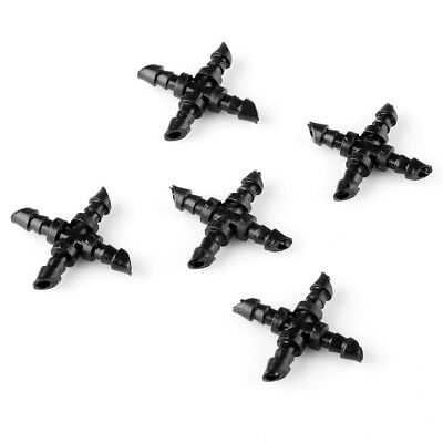 "20pcs 1/4"" Cross Barb Garden And Irrigation Misting Micro Sprinkler Connector"
