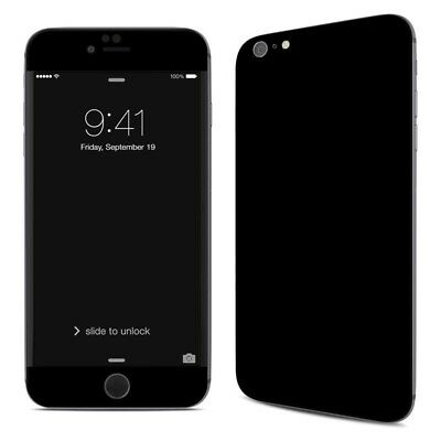 iPhone 6 Plus/6S Plus Skin - Solid Black - Sticker Decal