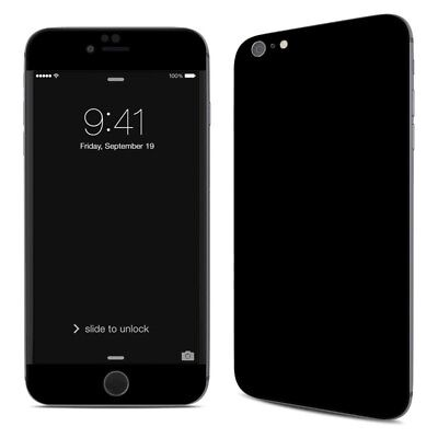 iPhone 6 Plus/6S Plus Skin - Solid State Black by Solid Colors - Sticker Decal