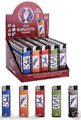 Lot 50 Briquet Uefa Euro 2016 Jetable Colore