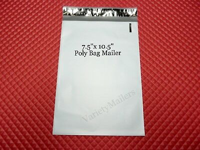 "15 Poly Bag Postal Shipping Envelope Mailers 7.5""x 10.5"" Self-Sealing"