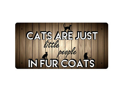 WP_ANI_015 CATS ARE JUST little people IN FUR COATS (cat images) - Metal Wall Pl