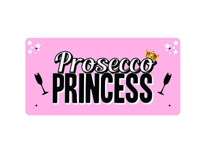 WP_FUN_006 Prosecco PRINCESS - Metal Wall Plate