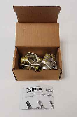 Lot Of 10 Unused Panduit Lcax250-38-X Str/Flex Copper Conductor Lugs Nib/Nos