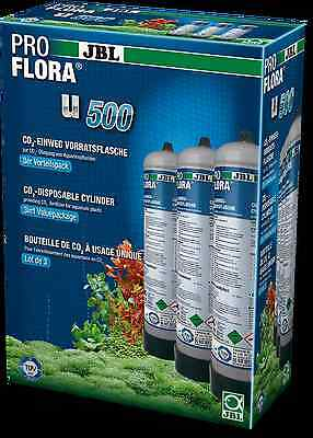 JBL ProFlora U500 x3 disposable co2 bottle pro flora carbon aquarium fertiliser