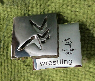 2000 Olympic Sports Metal Badge - Wrestling
