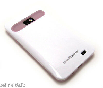 Straight Talk Samsung Galaxy S2 SGH-S959G Cell-Nerds Duo Case Glossy White Pink