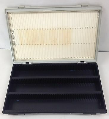 """Vintage Storage Case W/Trays For 35 mm INDIVIDUAL FILES or 2""""x2"""" Slides NEW I3"""
