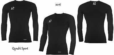 Kids Boys Girl Sondico Compression Base Layer Skins Long Sleeve Shirt
