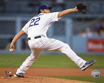 Clayton Kershaw Los Angeles Dodgers 2015 Action Authentic 8x10 Photo
