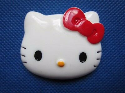 10 Large Kitty Flatback 46mm x 39mm-Red Bow-K036