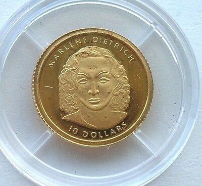 Liberia 2001 Dietrich 10 Dollars Gold Coin,Proof