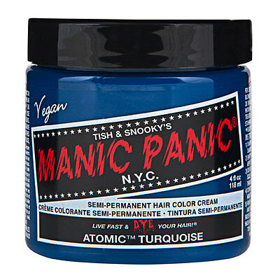 Manic Panic Classic Hair Dye Color - Atomic™ Turquoise Vegan 118ml Manic-Panic
