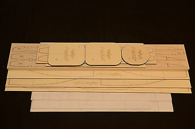 "Dehavilland DHC-5 BUFFALO Laser Cut Short Kit & Plans 94""WS Electric or Nitro"