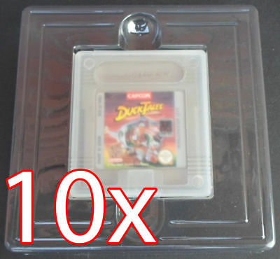 10 X Inlay Plastik Inlay / Blister für Nintendo Gameboy Classic Color Spiele OVP