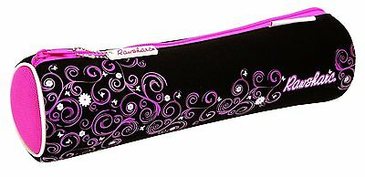 Helix Rawsharc 13 Inch Neoprene Cylinder Pencil Case Pink Stationery - Clearance