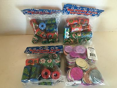 4 Bags Of Holiday Christmas Oriental Trading Co. Novelty Items Toys NEW
