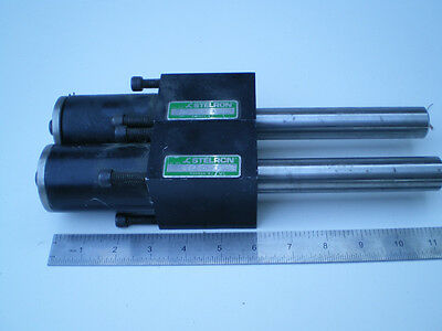 """2 Stelron Ssf5-6 Linear Bearing Block With 11"""" Shafts"""