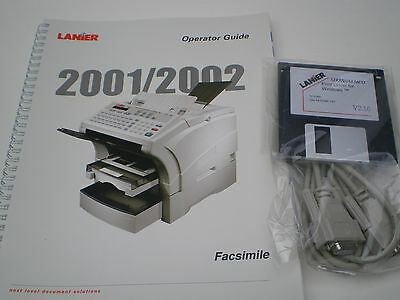 Lanier 2001 /2001 Fax Operator Manual With Driver And 9 Pin Serial Cable