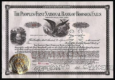 1935 Hoosick Falls, New York: The Peoples-First National Bank of Hoosick Falls