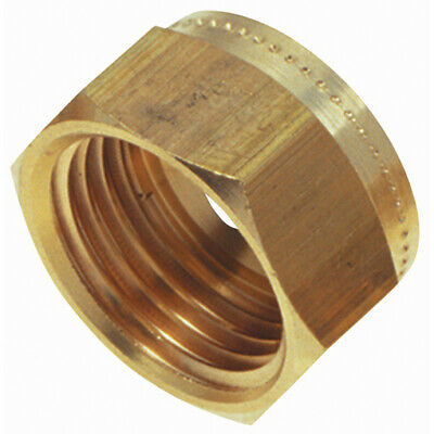 """WADE-WUN1005, 5/16""""OD COMPRESSION NUT BRASS, Wade Brass Compression Fittings"""
