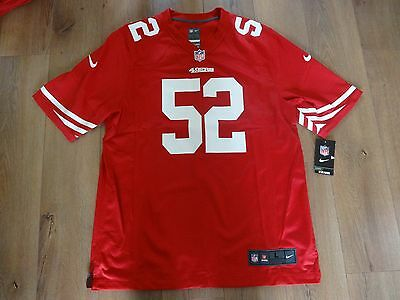 San Fransisco 49ers Willis 52 Nike NFL Jersey NEW TAGS Large Shirt On Field
