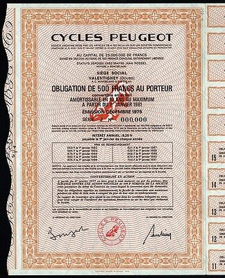 Cycles Peugeot - French Bicycle Company (Specimen)