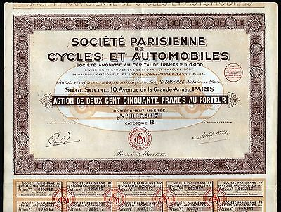 """1929 Paris, France: """"Cycles and Automobiles"""""""