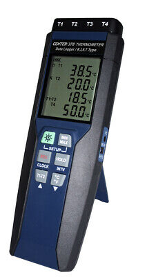 Four Channel Digital Datalogging Thermometer with PC Software & Multi Probe Capa