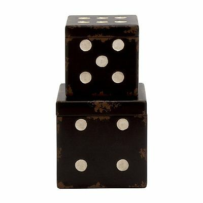Woodland Imports 20328 Cool And Unique Wood Dice Boxes (set of 2)