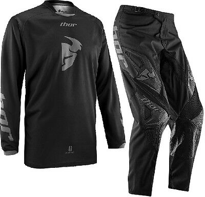 """2016 Thor Phase MX Motocross Gear Blackout Adult Black 30"""" Pants Small Jersey"""