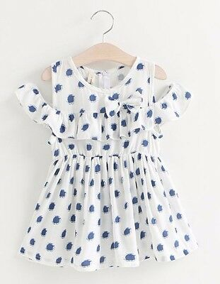 Baby Kids Toddler Girls DRESS summer sleeveless cotton casual party dress 18M-5T