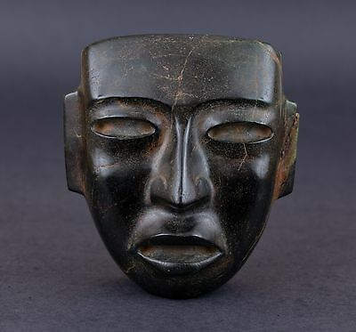 Teotihuacan Stone Mask Figure Statue Antique Pre Columbian Artifact Olmec Toltec • CAD $3,775.05