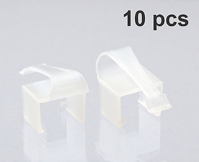 RJCLIP (10 PCS CLEAR Color) - Broken RJ45 Connector Solution - Hear the Click!