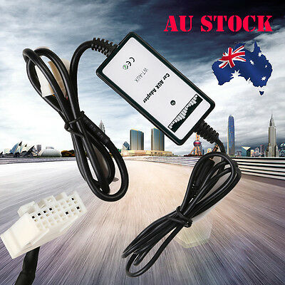 For Mazda 3.5mm AUX Input Dock Adaptor Audio MP3 Interface Adapter AU Stock