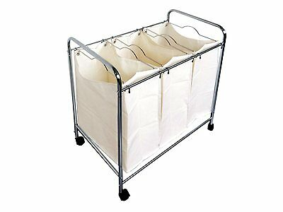 Proman Products ZS16733 3-Basket Laundry Trolley