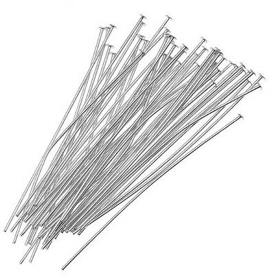200Pcs Silver Head Pins for Jewelry Making, 35mm DM