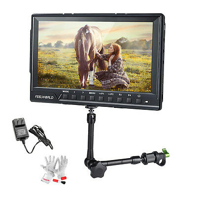 Feelworld FW760 1920*1200 Video Cam Monitor Advanced Function+Magic Arm+Adapter