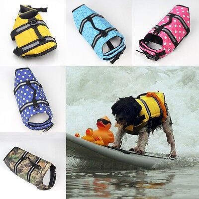 2016 Dog Vest for Swimming Safety Pet Clothes 8 Colors Life Jacket For Puppy HOT