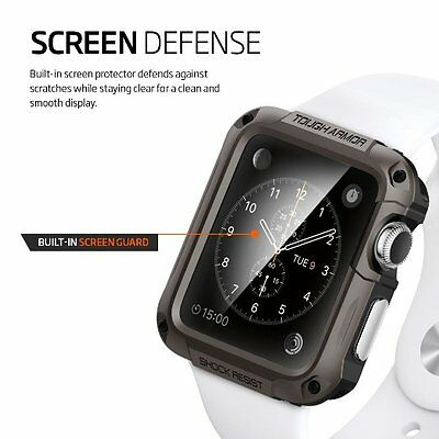 Accessory Rugged 42mm Case Screen Protector For Apple Watch Sport iWatch Black