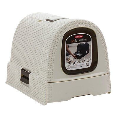 Curver Cat Litter Box, Petlife collection, White