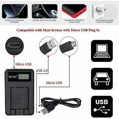 High Capacity Smart Screen USB Battery Charger for Sony NP-F530 NP-F970 NP-F550