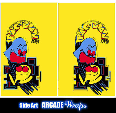 Pac Man Arcade Side Art Panel Stickers Graphics / Laminated All Sizes Available