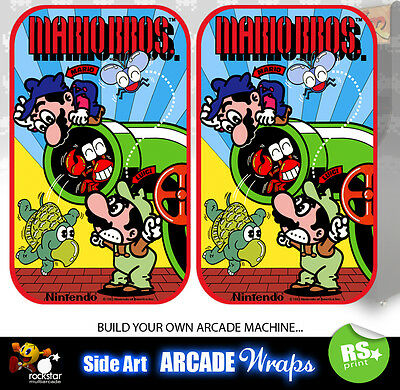 Mario Bros Arcade Side Artwork Panel Stickers Graphics  / Laminated All Sizes