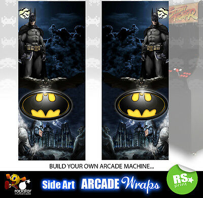 Batman Arcade Side Artwork Stickers Panel Stickers Graphics Laminated All Sizes