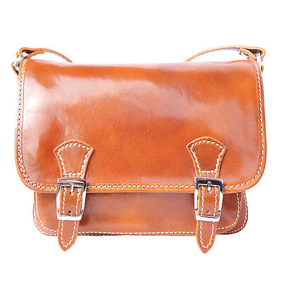 Crossbody Bag Italian Genuine Leather Hand made in Italy Florence 416 wh