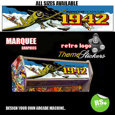Arcade Marquee Stickers Artwork Graphics Laminated All Designs StarWars + More