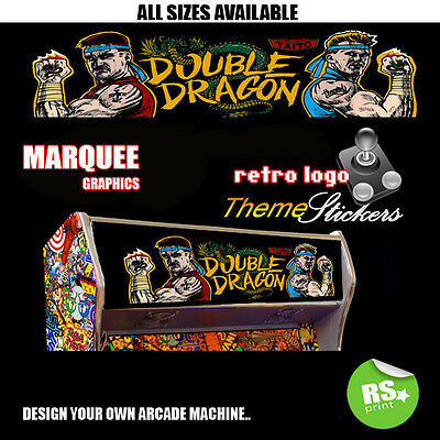 Arcade Marquee Stickers Artwork Graphics / Laminated All Designs Gorf +  More