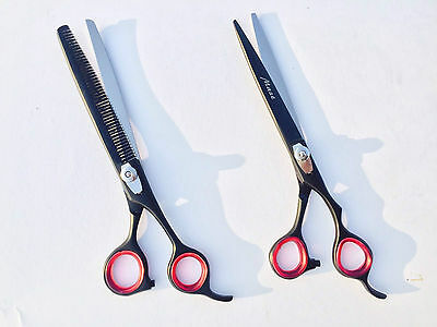 Professional Pet Grooming Scissors thinning Shears set J2 Japanese Steel 8 ""