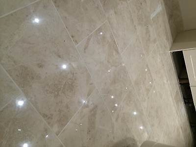 Sample of Light Cappuccino Marble Tiles - POLISHED